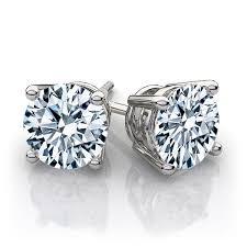 white gold studs 2 00 carat t w brilliant cut white gold diamond studs