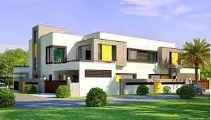 3d front elevation com 1 kanal corner plot 2 house design