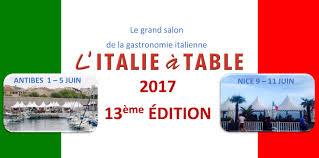 chambre de commerce franco italienne l italie à table l édition 2017 actualités bons plans