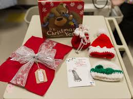 hospital gifts santa s magic turns nicu babies into tiny gifts for their