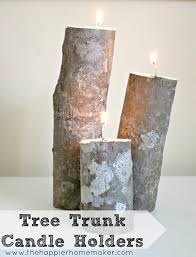 tree trunk candle holders the happier homemaker