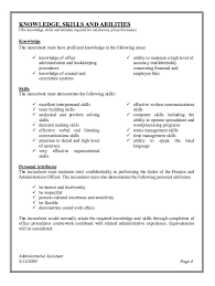 resume skills and abilities administrative assistant best resume for administrative assistant