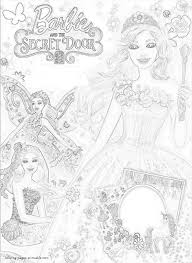 barbie secret printable coloring pages