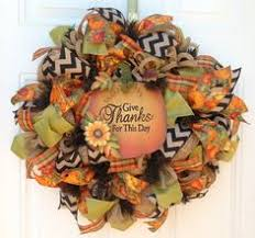 deco mesh thanksgiving wreath with pilgrim turkey fall wreath