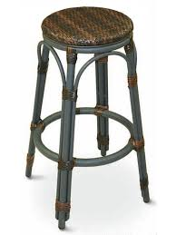 Patio Bar Chair Synthetic Wicker Outdoor Bar Stools Bar Restaurant Furniture