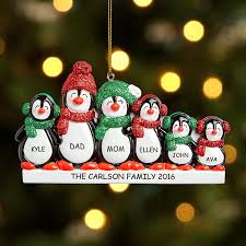 shop personalized family ornaments for up to 6 at personal
