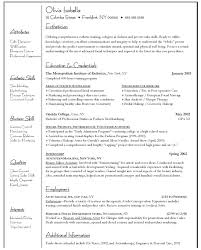 Resume For Artist Examples Of Resumes For Students Best 20 High Resume