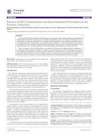 sources of dna contamination and decontamination procedures in the