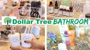 dollar tree bathroom organization youtube