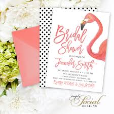 bridal shower invited flamingo bridal shower invitation watercolor flamingo and modern
