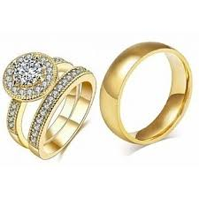 rings fashion gold images Fashion 18k gold plated italian wedding ring set 3 pieces jumia jpg