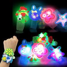 led light up toys wholesale free shipping cartoon flashing strap led wristband bracelets holiday