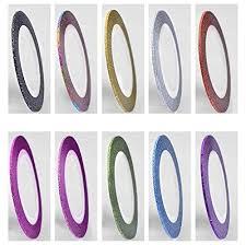amazon com 50 pcs white fan shaped false fake nail art tips