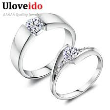 rings zirconia images 5 off uloveido 2pcs silver color cubic zirconia wedding commitment jpg