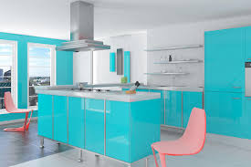 Floating Cabinets Kitchen Decor Eames Chair And Teal Kitchen Cabinets With Kitchen Hood