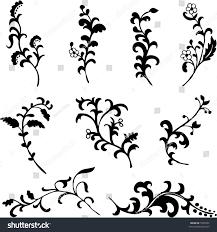 ornamental floral design elements stock illustration 5504701