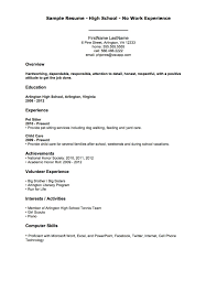 resume templates for high students with no experience resume template no previous experience new no experience resumes