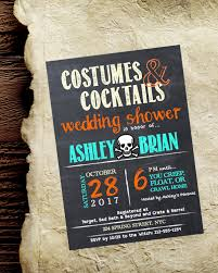 Halloween Bridal Shower Invite Chalkboard Rustic Wedding