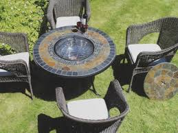 Patio Furniture Sets With Fire Pit by Fire Pit Dining Table Set For Small Spaces Boundless Table Ideas
