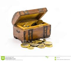 coins in the box stock image image 34611991