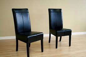 leather dining room chair black dining room chairs decorating ideas