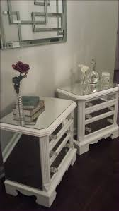 bedroom magnificent glass mirrored bedside cabinets small round