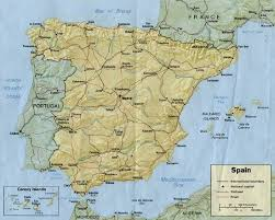 physical map of spain map of spain map for planning your holidays in spain