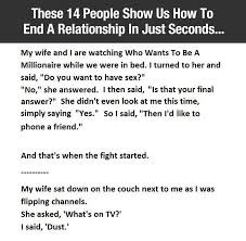 What Do Women Want In Bed 14 Men And Women Explain How Their Relationships Ended In Seconds