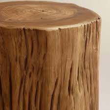 furniture amazing tree stump table for patio design in your home