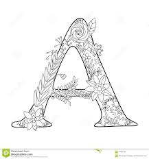 letter y coloring book for adults vector stock vector image
