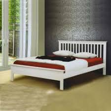 Low Bed Frames Uk Pentre White Bed Frame M Jpg