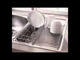 Kitchen Sink Dish Rack YouTube - Kitchen sink with drying rack