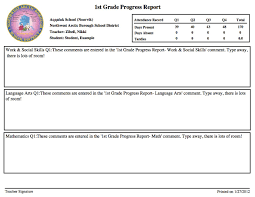 elementary progress report template excellent progress report template ideas resume ideas