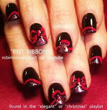 easy nail ideas ribbon nails design