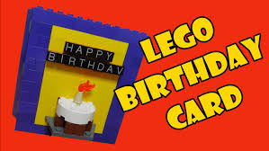 lego light up 3d birthday card youtube