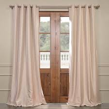 beige grommet blackout faux silk taffeta curtain
