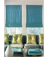 Classic Roman Shades - custom fabric shades select from 100s of silk cotton or linen