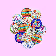 baloon delivery nyc well soon half dozen flower and balloon delivery nyc florist