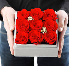 roses for sale sale preserved fresh flower nine roses high end gift box for