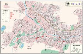 touristic map of tbilisi tourist map tbilisi mappery