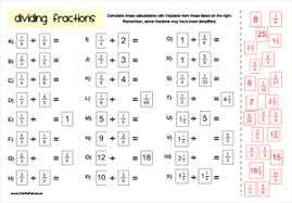 Multiply And Divide Fractions Worksheet Fractions