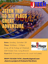 Movies Six Flags Mall Jteen Six Flags Trip U2013 Chabad Of The Shore
