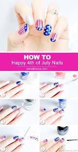 happy 4th of july nail art tutorial
