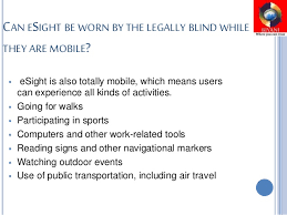 Legally Blind Definition Esight Glasses