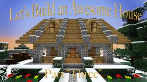 minecraft building a cool house with an epic creeper