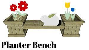 garden planter bench plans youtube