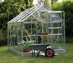 6ft X 8ft Greenhouse Vitavia Venus Silver Aluminium 8ft X 6ft Wide Greenhouse 5000