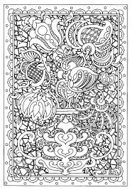 flower difficult flowers and vegetation coloring pages for