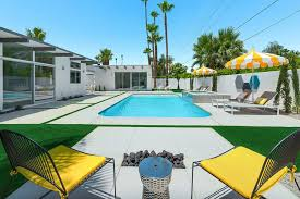 Palm Springs Outdoor Furniture by Good Looking Palm Spring Pool Midcentury With Mid Century Modern