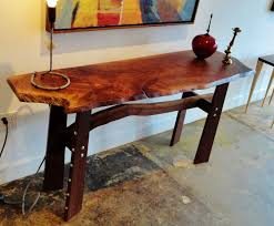 live edge table top live edge walnut console with table top companion piece by steve